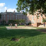 Volleyball in front of Connor Hall